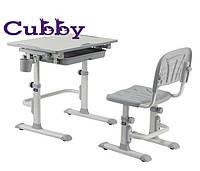 Cubby растущая детская парта со стульчиком (Lupin Grey)