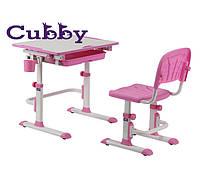 Cubby растущая детская парта со стульчиком (Lupin Pink)