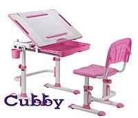 Cubby растущая парта для дома Karo Pink