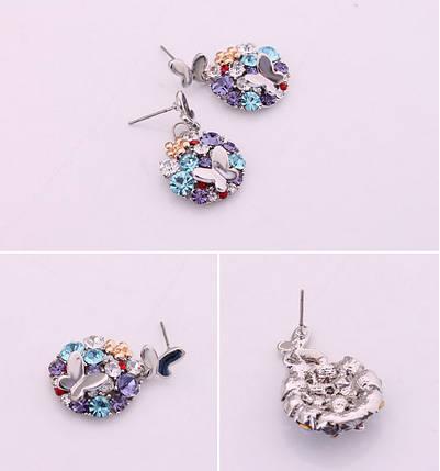 Серьги с кристаллами Сваровски es168, фото 2