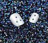Стразы для ногтей 2 мм, 100 шт, синие, хамелеон