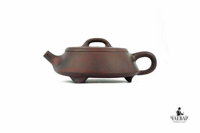 Premium Исинский чайник    с большим содержанием железа, полностью ручного изготовления, cильного дровяного обжига - звонкий. Эгоист, 140мл