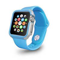Чехол OZAKI O!coat для Apple Watch 38cm-Shockband Case Blue