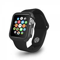 Чехол OZAKI O!coat для Apple Watch 38cm-Shockband Case Black