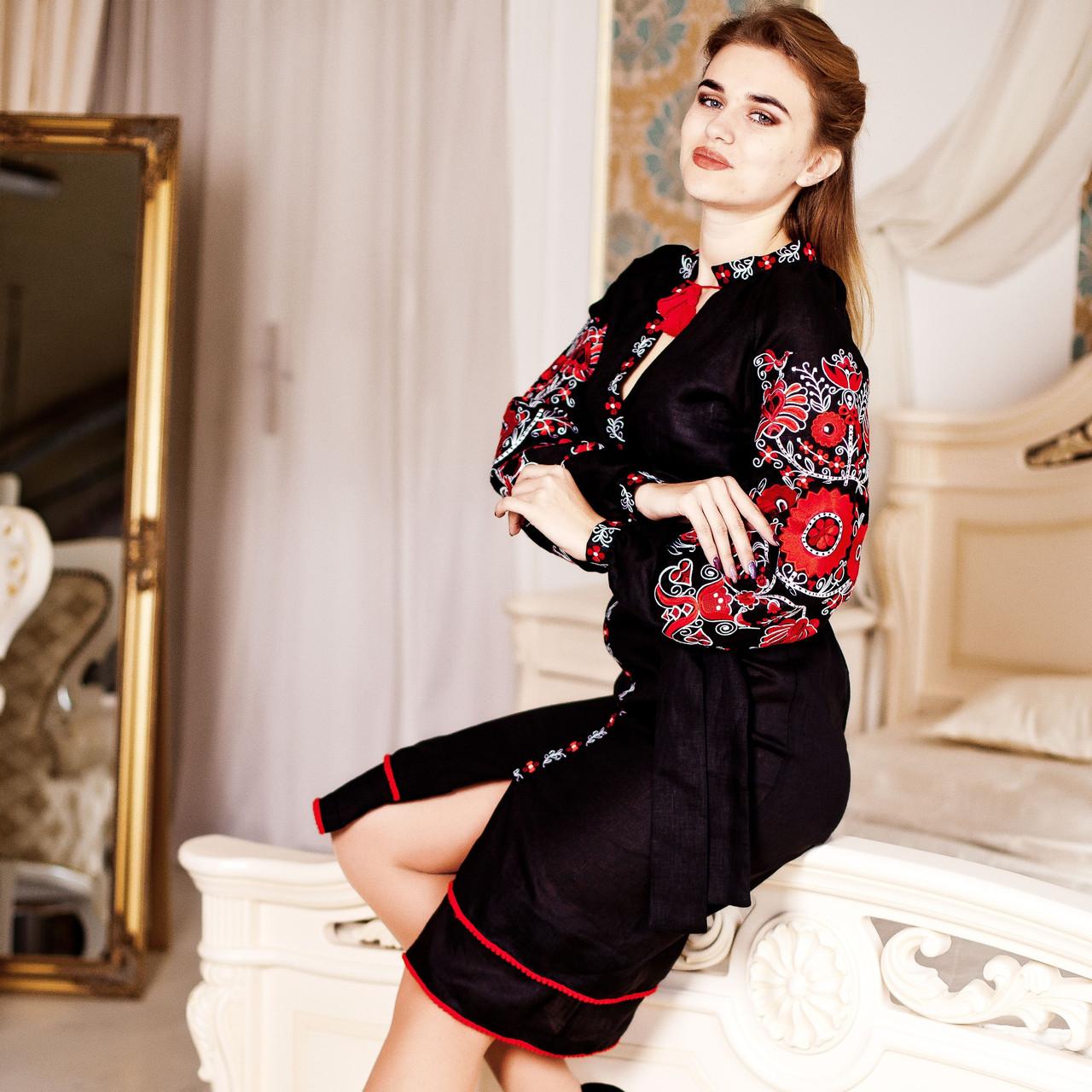 Вишите плаття Пристрасть (100% льон) b841e05f5aaa5