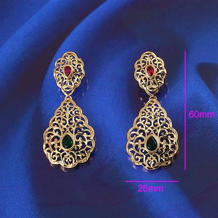 Сережки з кристалами Swarovski es317, фото 2