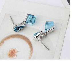 Серьги с кристаллами Swarovski es327, фото 2