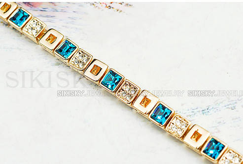 Браслет с кристаллами Сваровски bs80, фото 2