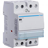 Контактор ESC263 63А, 2НО, 230В модульний Hager