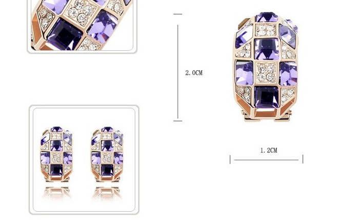Серьги с кристаллами Swarovski es349, фото 2