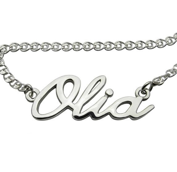 """Серебряный кулон """"Оля"""" (с цепочкой) именной кулон из серебра 925 пробы - подчеркните свою индивидуальность"""