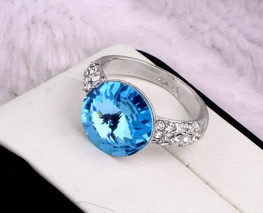 Кольцо с кристаллами Сваровски rs-163, фото 2