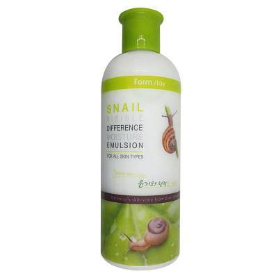 Восстанавливающая эмульсия с экстрактом улитки Farm Stay Visible Difference Moisture Emulsion Snail, 350ml