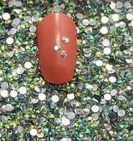 Стразы для ногтей 2 мм, 1 баночка, хамелеон, фото 1