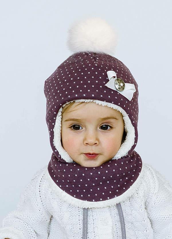 Детская шапка АННИ (набор) для девочек оптом размер 44-46-48