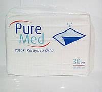 Пеленки гигиенические Pure Med 60*90 30шт (9563)