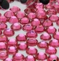 Стразы для ногтей 2 мм, 100 шт, ярко-розовые