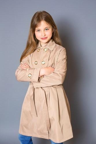 Модный карапуз ТМ Плащ для девочки бежевый