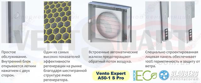 Особенности и отличия реверсивной приточно-вытяжной установки BLAUBERG Венто Эксперт A50-1 S Pro