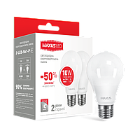 Лампа LED Maxus A60 10W 3000K 220V E27 (1-LED-561-P)