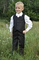 Модный карапуз ТМ Костюм выпускной для мальчика в детский сад: брюки + жилет (черный)