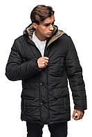 Зимняя куртка для мужчин.   черный с хаки