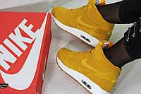 Кроссовки в стиле Nike Air Max 87 (рыжие) кроссовки найк nike