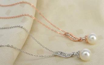 Комплект набор украшений с жемчугом Swarovski (Сваровски) бижутерия kp124, фото 2