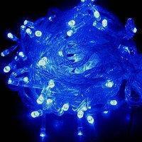 Новогодняя гирлянда на 200 светодиодных лампочек однотонная