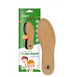 Kaps Pecari Carbon Kids - Кожаные стельки для детской обуви