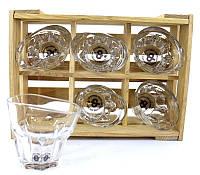 Набір п'яних склянок для віскі 260 мл 6шт ND010