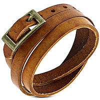 Браслет коричневый в три оборота, фото 1