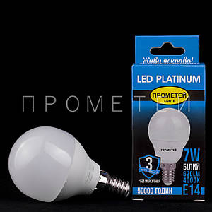 Світлодіодна (LED) лампочка Прометей E14 - G45 7W P3-G451
