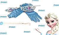 Холодное сердце Фрозен Ельза карнавальный набор корона палочка перчатки...