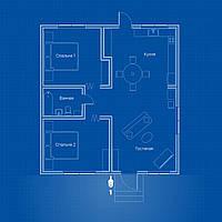 Видеонаблюдение AHD 2Мп 1 PTZ-камера для частного дома