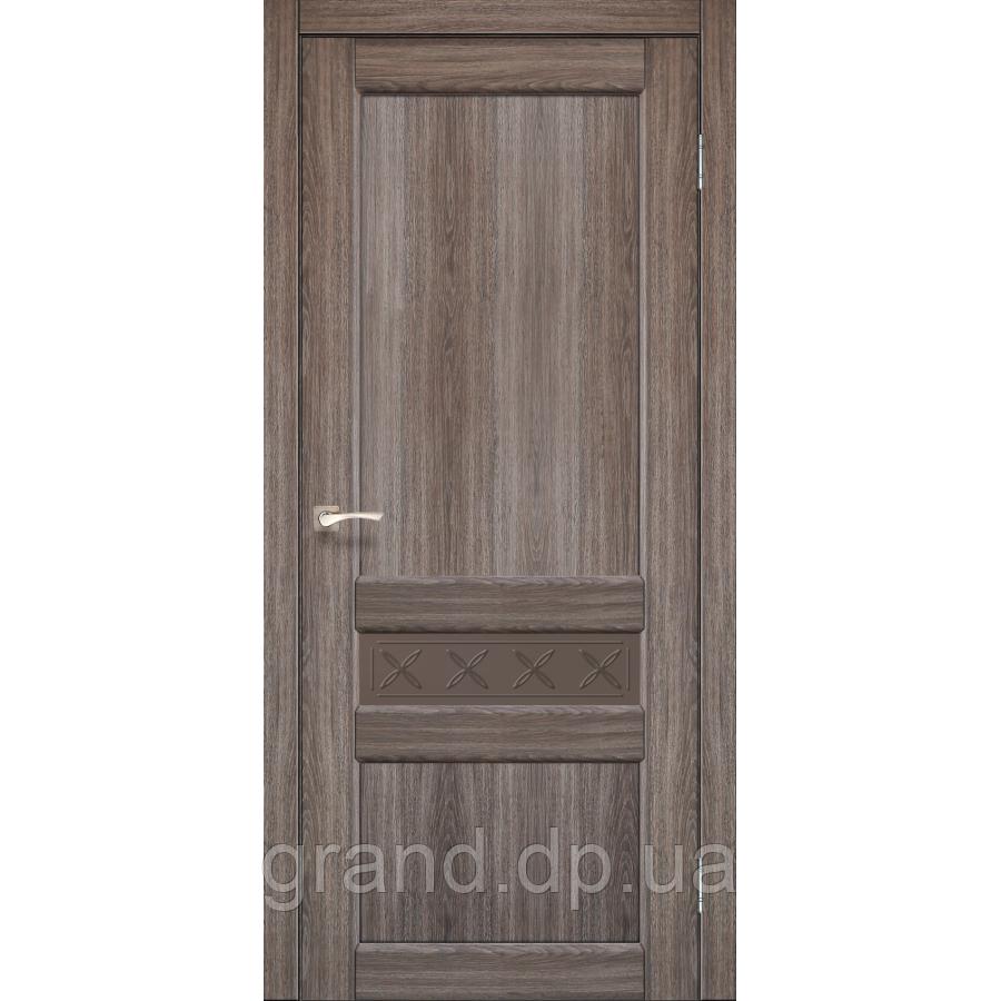 Двери межкомнатные Корфад CL-06 цвет дуб грей с бронзовым стеклом