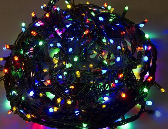 Новогодняя гирлянда на 200 светодиодных лампочек разноцветная, фото 2
