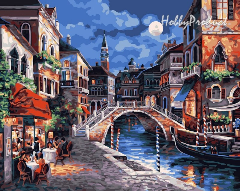 Набор-раскраска по номерам Венецианская ночь худ. Ли Джеймс