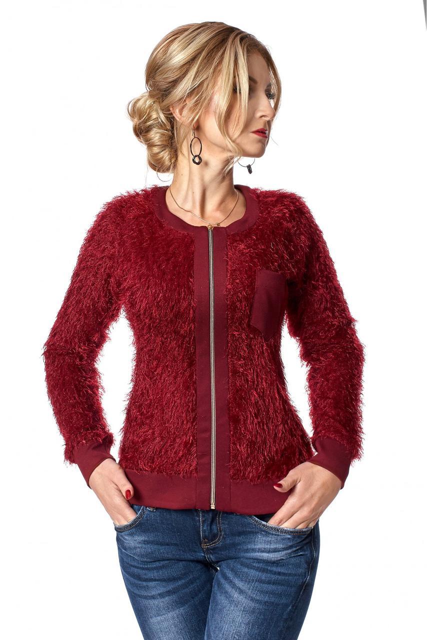 077fd5380fee88 Купить Теплая женская кофта из трикотажа травка 617542845 - Грация ...