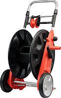 """Стойка с катушкой на колесах для шланга + направляющие ролики Ø-1/2""""- 50 м; Ø-3/4""""- 45 м  YATO  YT-99853"""