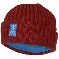 Шапка спортивная adidas Fisherman style AB2949  (бордовая, внутри флис, теплая, зимняя, с логотипом адидас), фото 1
