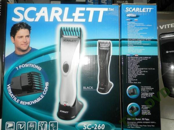 Машинка для стрижки волосся Scarlett SC-260 акум.