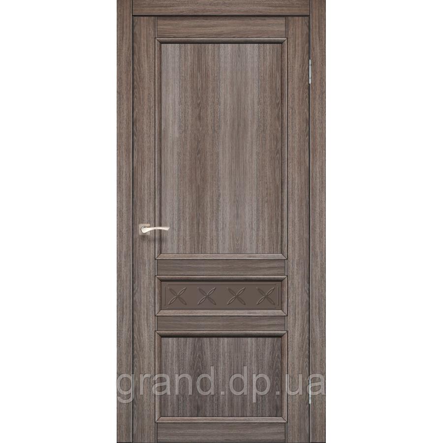 Двери межкомнатные Корфад CL-07 дуб грей с бронзовым стеклом
