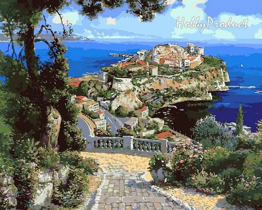 Набор-раскраска по номерам Дворец Де Монако худ. Парк Сунг Сам, фото 2