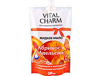 Мило рідке 500мл (дойпак) Абрикос та Апельсин ТМVITAL CHARM