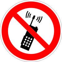 """Запрещающий знак """"Не активувати мобільний телефон"""""""