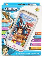 Детский интерактивный телефон Робот TOBOT, смартфон