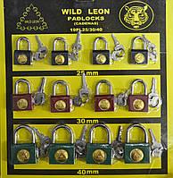 Набор навесных замков с ключами, в комплекте 12 шт.