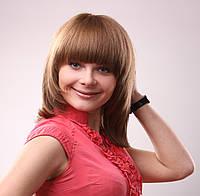 Парик из натуральных славянских волос русый средней длины Грация