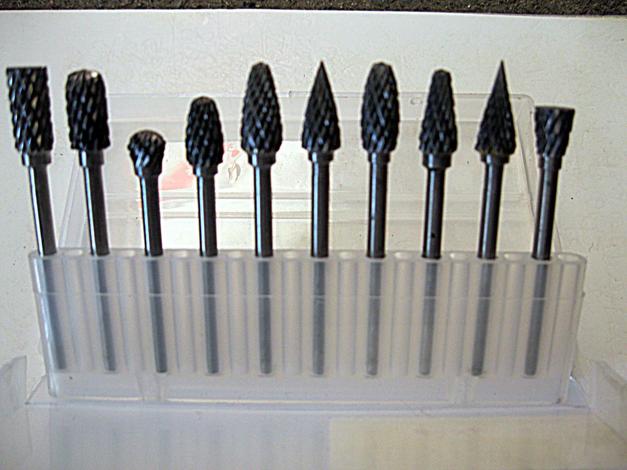Набор фрез для гравера 10 шт (3*4 мм)